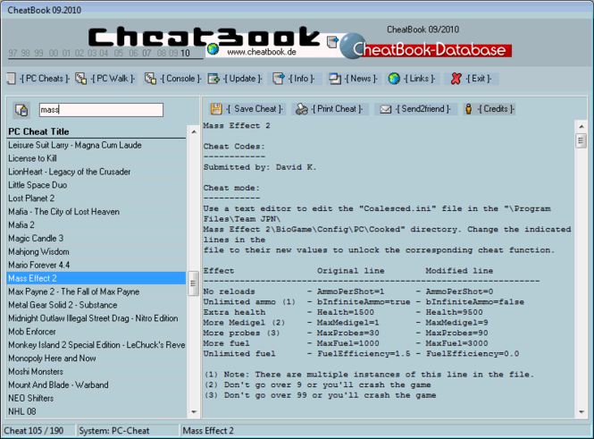 CheatBook Issue 08/2007 Screenshot 1