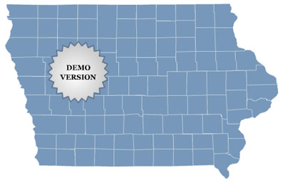 Locator Map of Iowa Screenshot