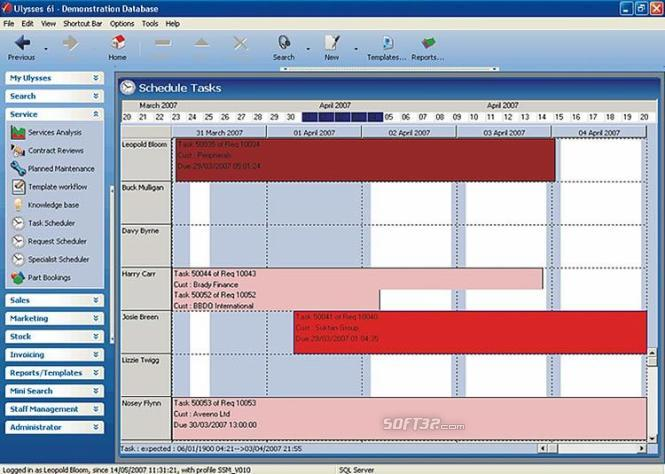 Ulysses CRM Suite Screenshot