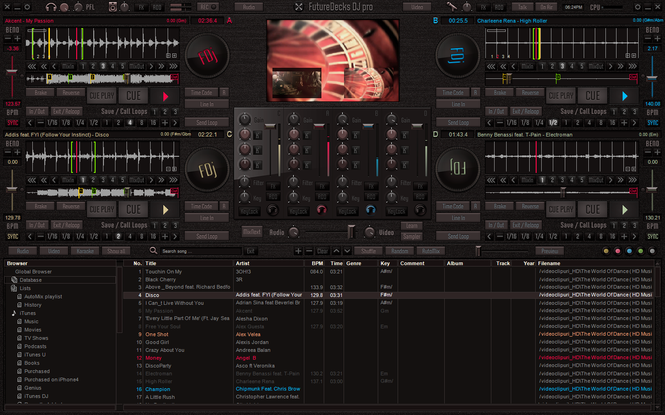 FutureDecks DJ pro Screenshot