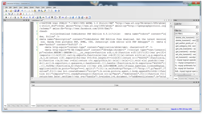 CodeLobster PHP Edition Screenshot 2