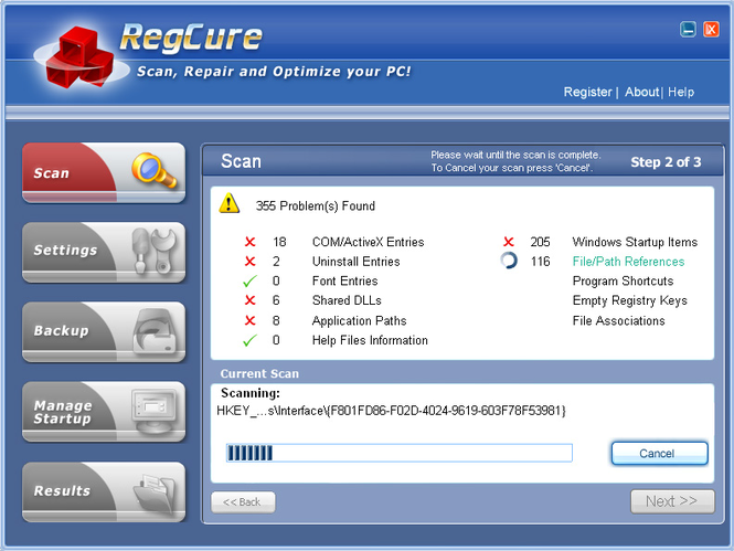 Free Registry Cure 2009 Screenshot
