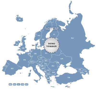 Golden SpotsMap of Europe Screenshot 2