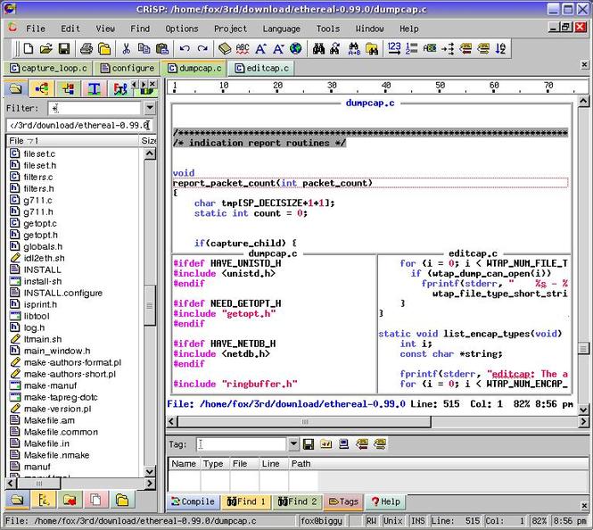 CRiSP Programmers Editor Screenshot