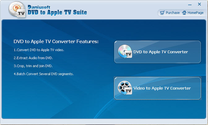 Daniusoft DVD to Apple TV Suite Screenshot