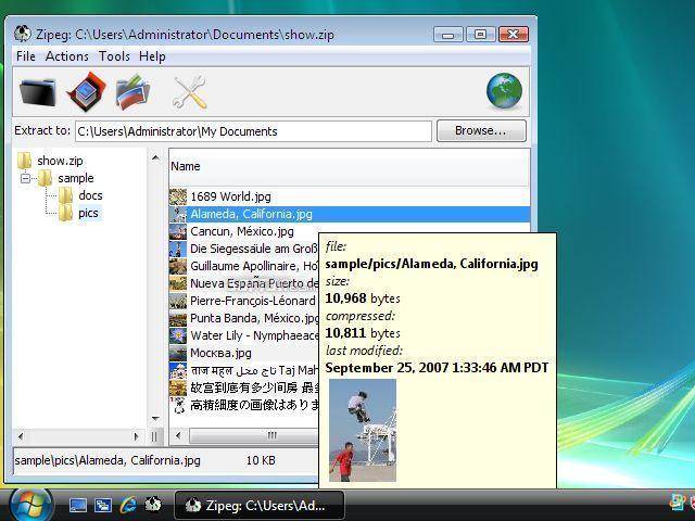 Zipeg for Windows Screenshot 3