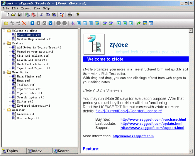 zNote Screenshot