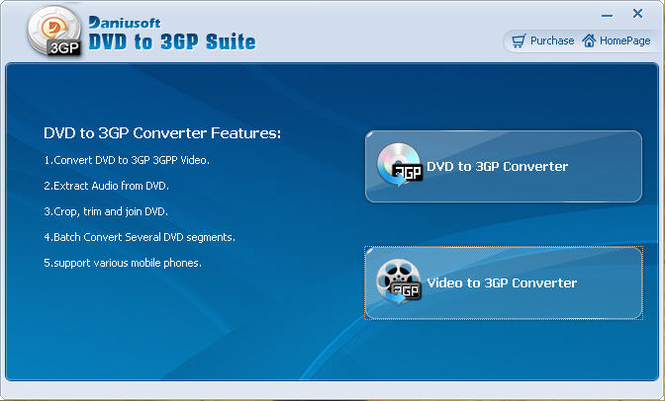 Daniusoft DVD to 3GP Suite Screenshot