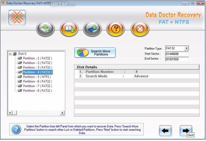 NTFS and FAT Partitions Restore Screenshot 3