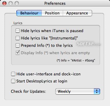 DesktopLyrics Screenshot 3
