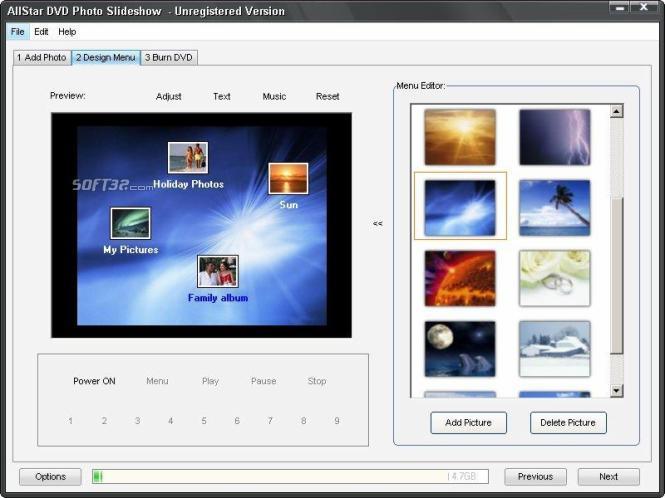 AllStar DVD Photo Slideshow Screenshot 2