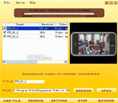 DigiGenius Video to iPhone Converter Screenshot 2