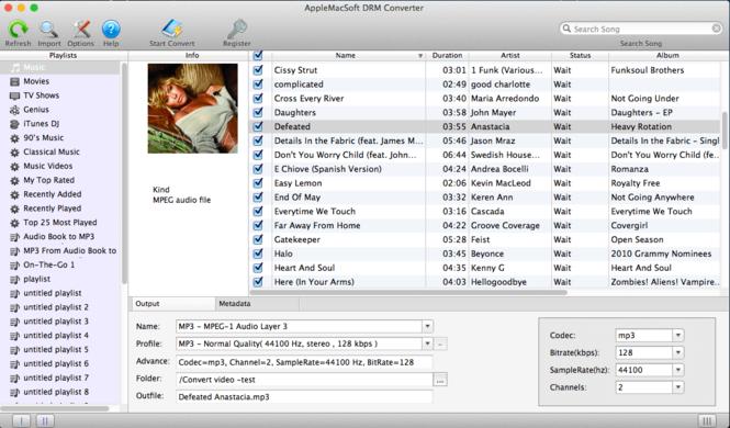 AppleMacSoft DRM Converter for Mac Screenshot 1