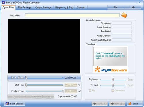 Moyea DVD to Flash Converter Screenshot