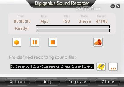 DigiGenius Sound Recorder Screenshot 3