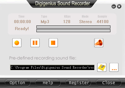 DigiGenius Sound Recorder Screenshot 1