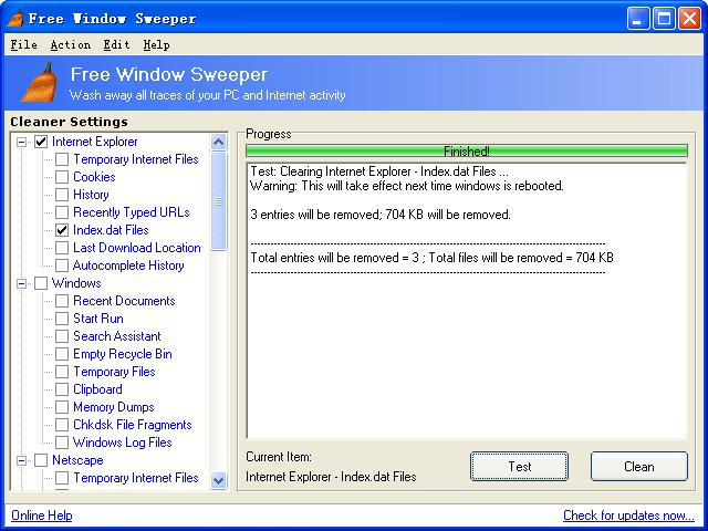 Free Window Sweeper Screenshot 1