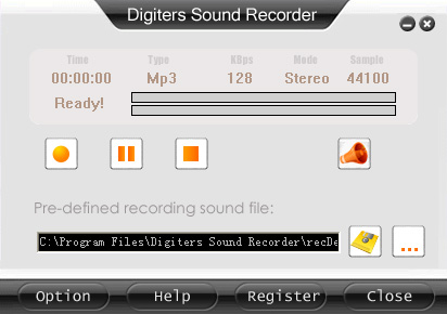 Digiters Sound Recorder Screenshot