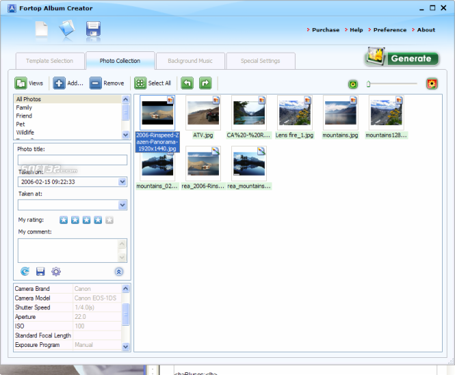 Fortop Album Creator Screenshot 3