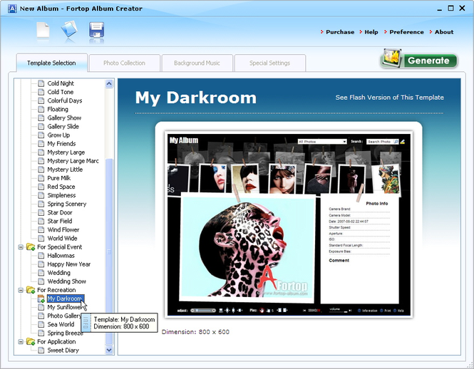 Fortop Album Creator Screenshot