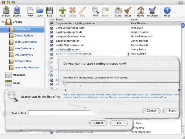 Advanced Mac Mailer Screenshot