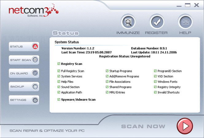 Netcom Internet Security Suite Screenshot