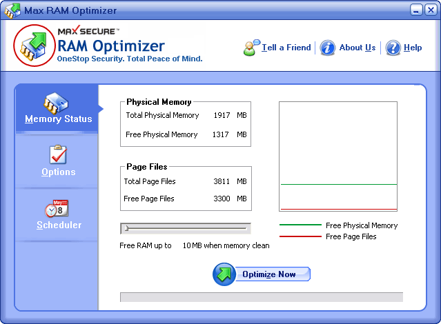 Max RAM Optimizer Screenshot