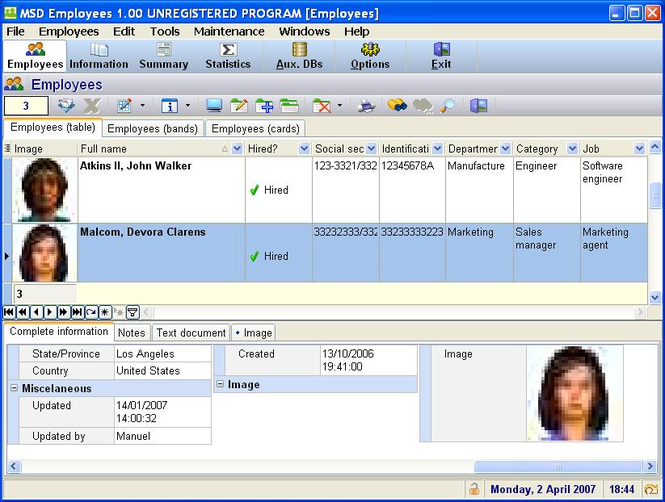 MSD Employees Multiuser Screenshot