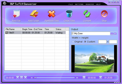 3GP To FLV Converter Screenshot