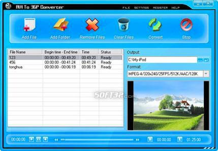 AVI To 3GP Converter Screenshot 2