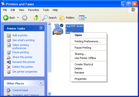 Real PDF Writer Screenshot