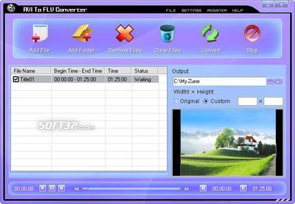 AVI To FLV Converter Screenshot 3