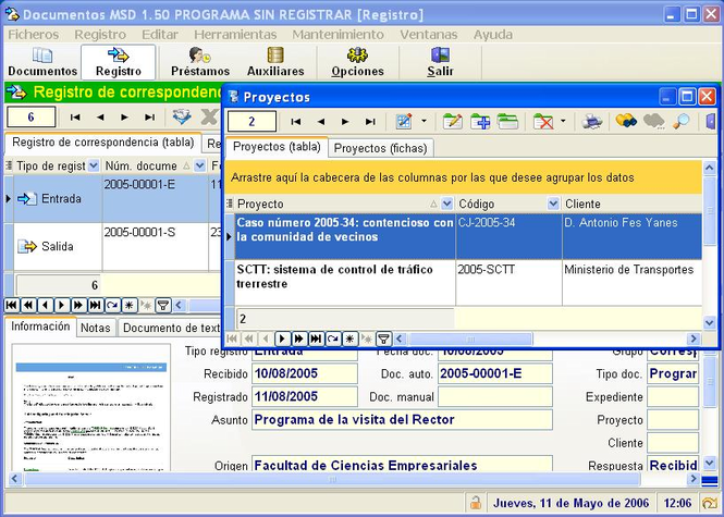 MSD Documents Multiuser Screenshot