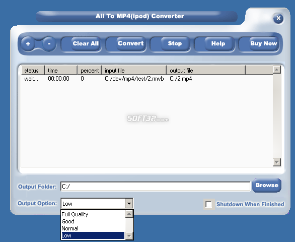 CheapestSoft All to iPod Movie Converter Screenshot 3