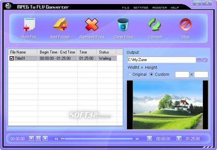 MPEG To FLV Converter Screenshot 3