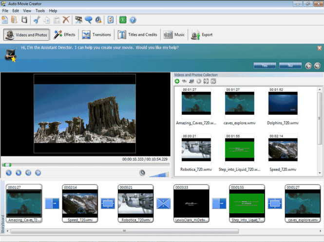Auto Movie Creator Screenshot