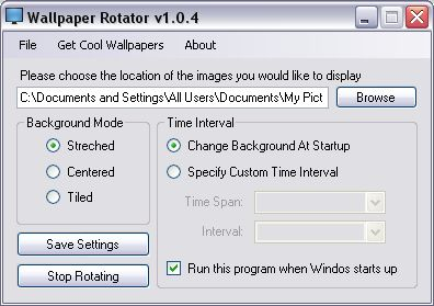 Wallpaper Rotator Screenshot