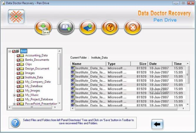 Pen Drive Data SalvageTool Screenshot 2