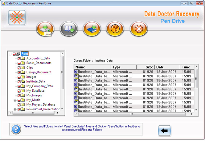 Pen Drive Data SalvageTool Screenshot