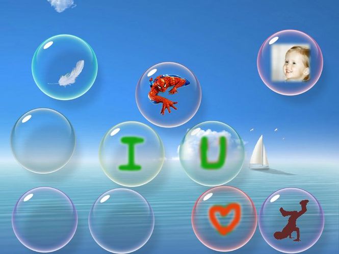 flow Bubbles screensaver Screenshot