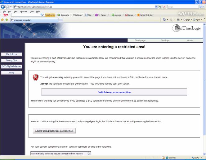 BarracudaDrive Pro Web Server Screenshot 3