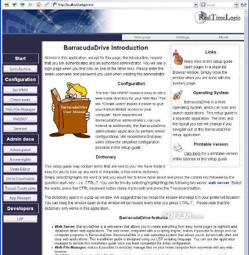 BarracudaDrive Pro Web Server Screenshot 9