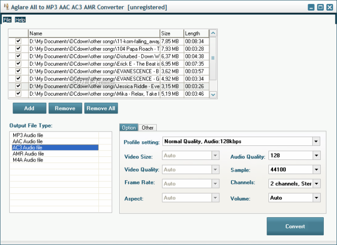 Download Aglare All to MP3 AAC AC3 AMR Converter 7 7