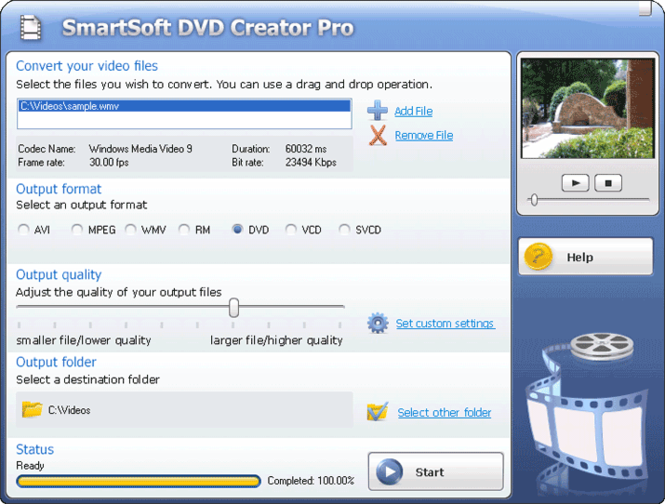 #1 Smart DVD Creator Pro Screenshot