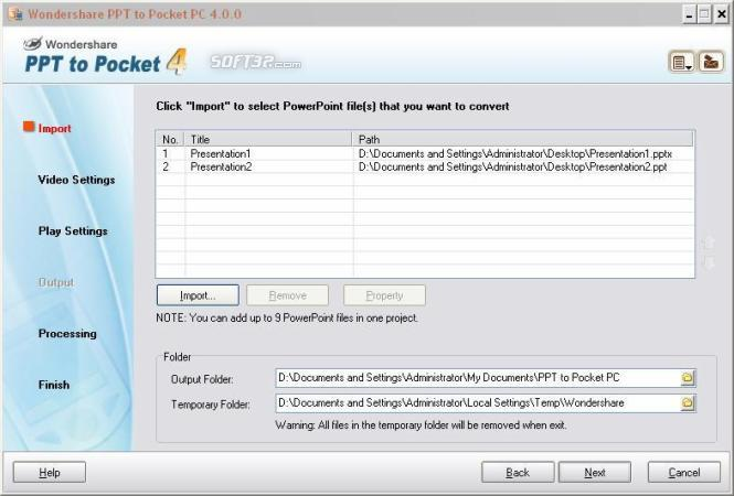 Wondershare PPT to Pocket PC Screenshot 2