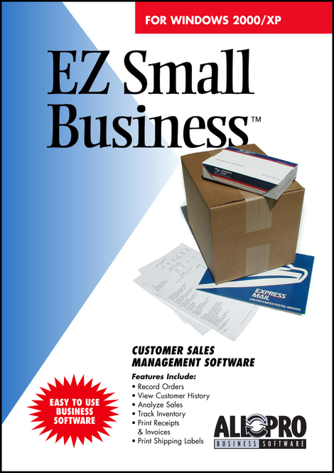 EZ Small Business Software Screenshot 1