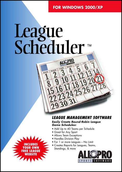 League Scheduler Screenshot
