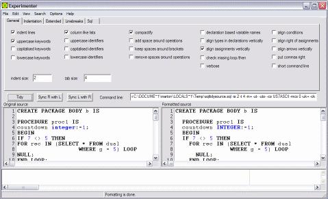 Tidycode Pl Sql Formatter Screenshot