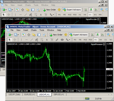 Meta Trader Account Copier Screenshot