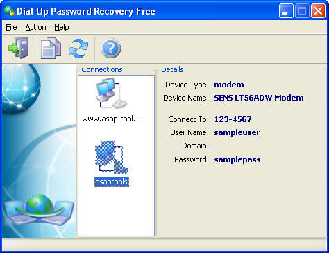 Dial-Up Password Recovery FREE Screenshot